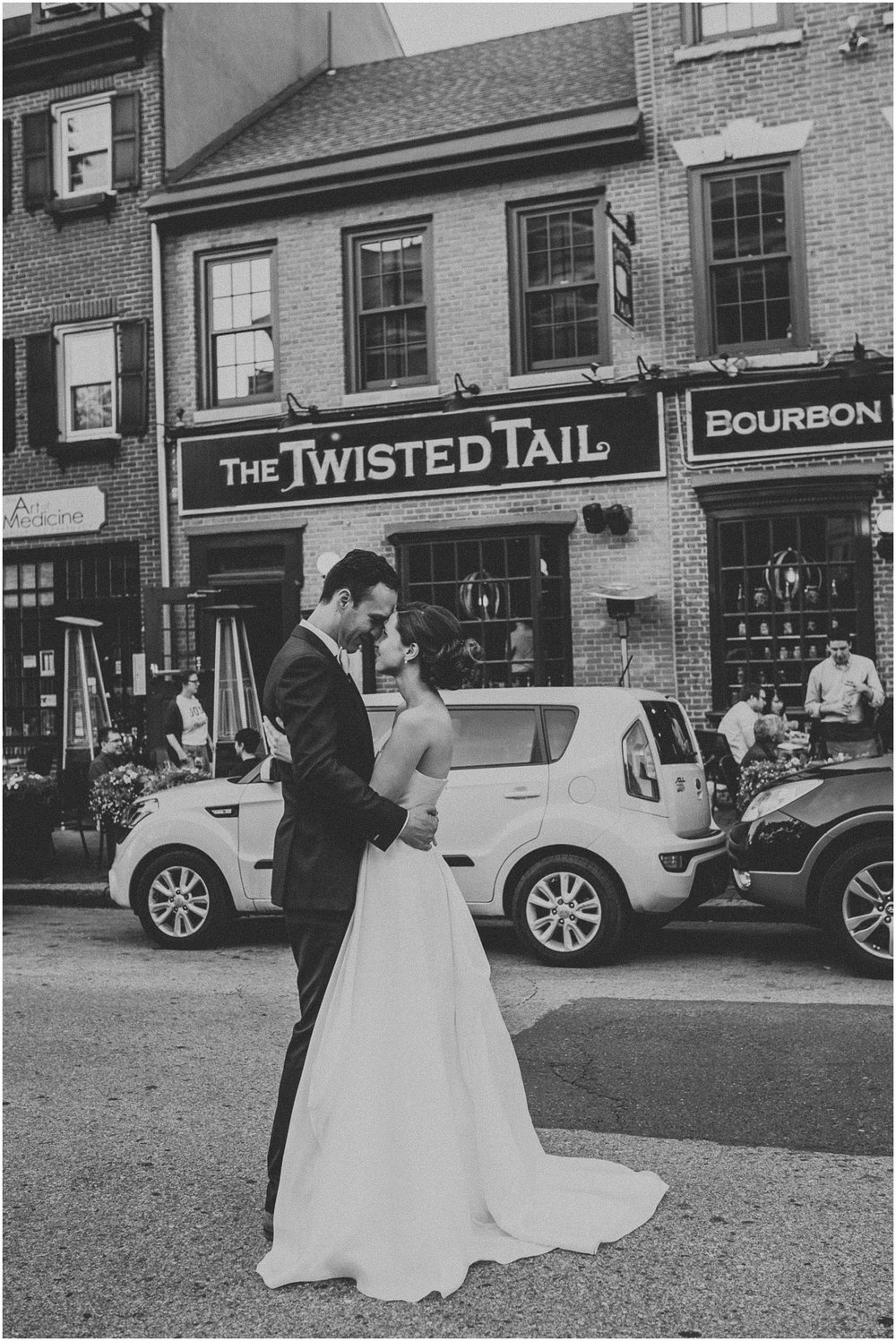 Bride and Groom wedding reception at Twisted Tail restaurant in Philadelphia Pennsylvania