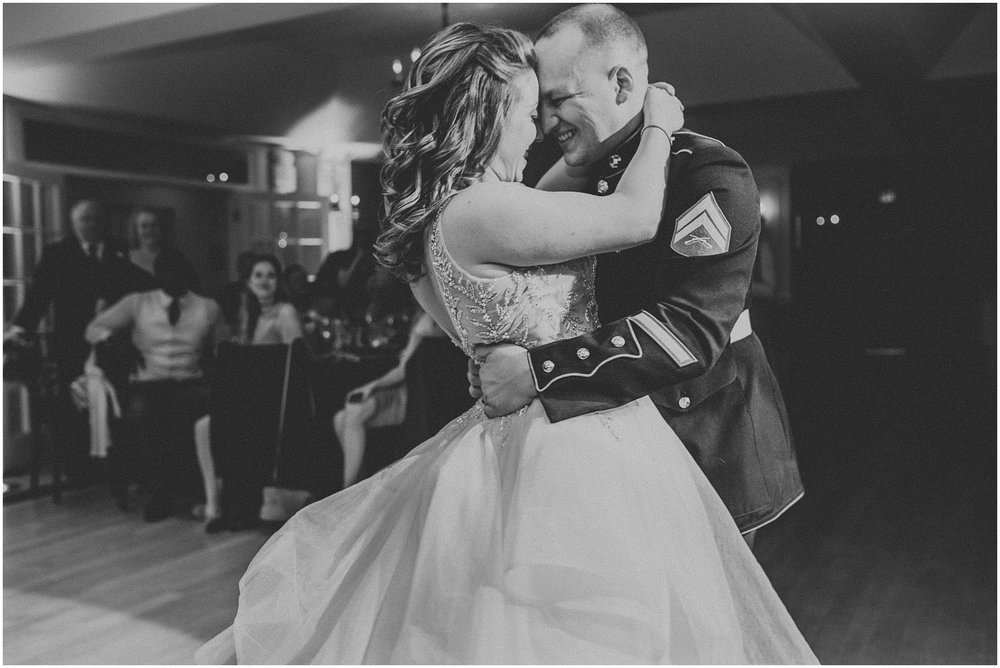 Bride and Groom first dance at Rock Island Lake Club in New Jersey