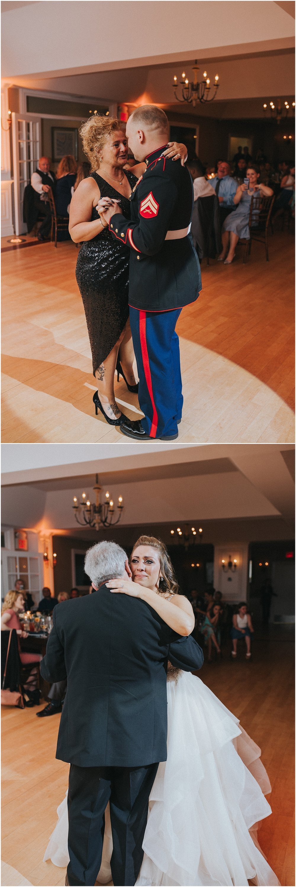 Father Daughter and Mother Son dance at Rock Island Lake Club in New Jersey