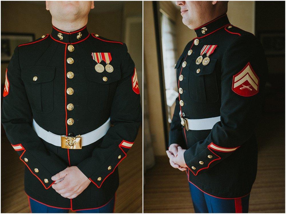 Marine Corp Groom portraits