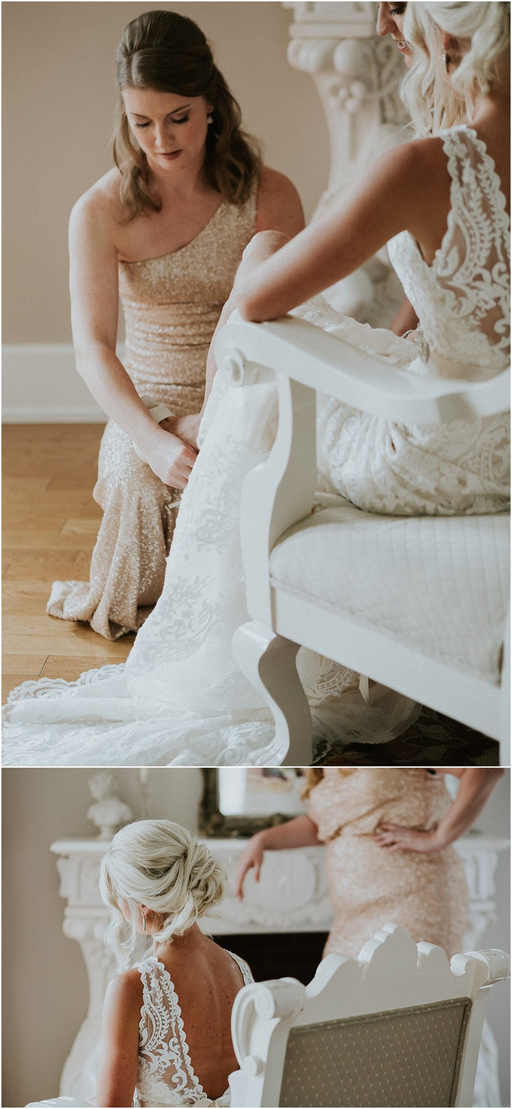 Romantic Bridal portraits at The Historic Acres of Hershey in Hershey Pennsylvania