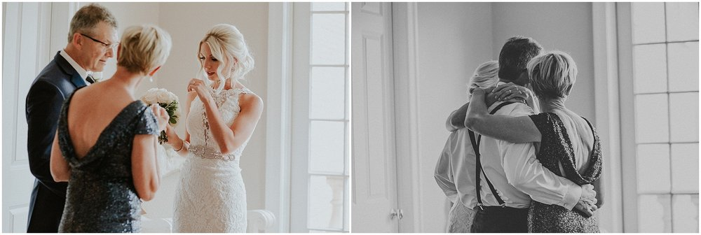 Brides family shares tender and sweet moments in Bridal Suite at The Historic Acres of Hershey in Hershey Pennsylvania