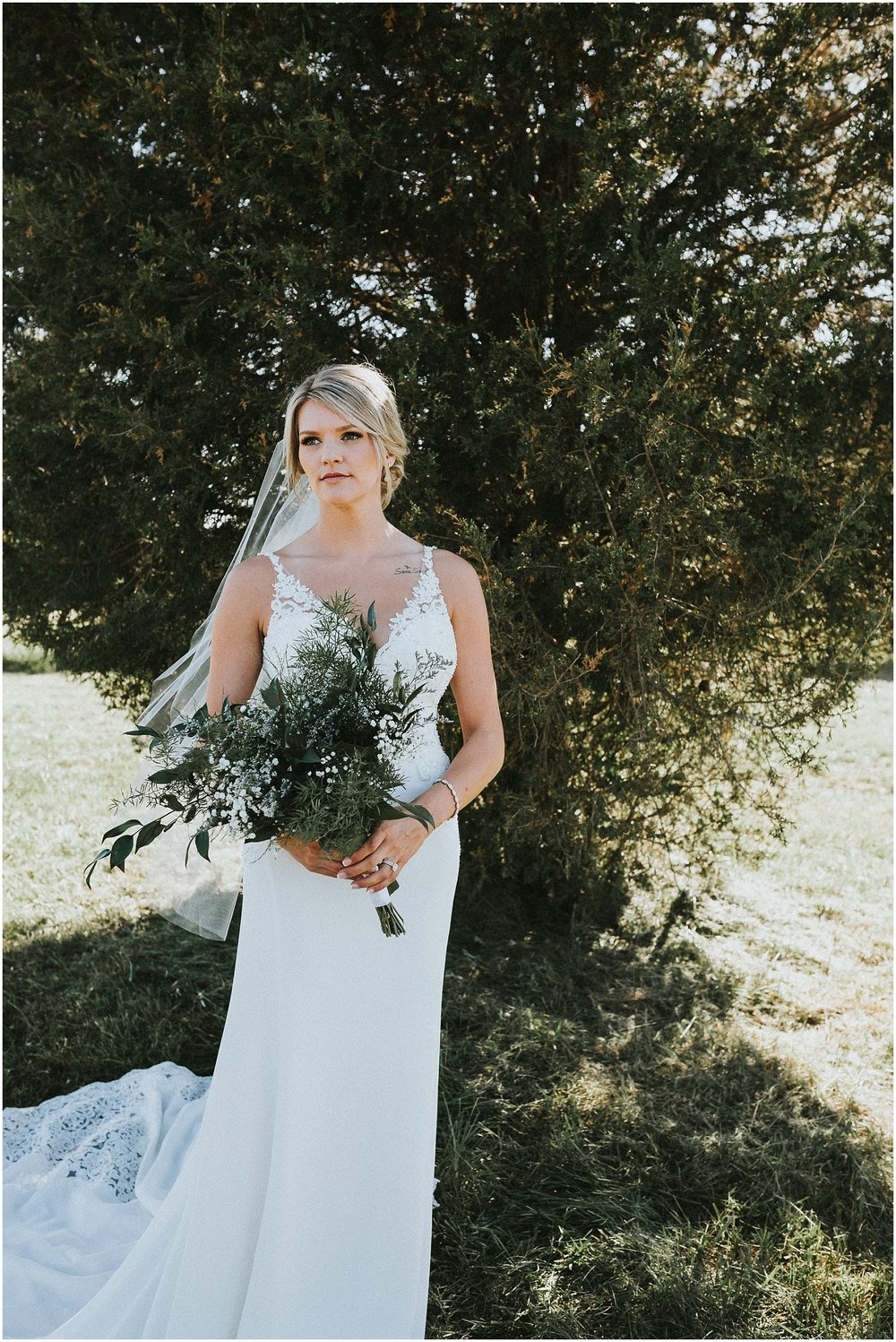 Bridal Portraits in an open country field