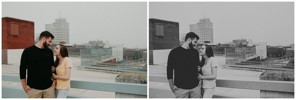 Summer sunrise Parking Garage Rooftop Engagement Session in Lancaster Pennsylvania_0135.jpg