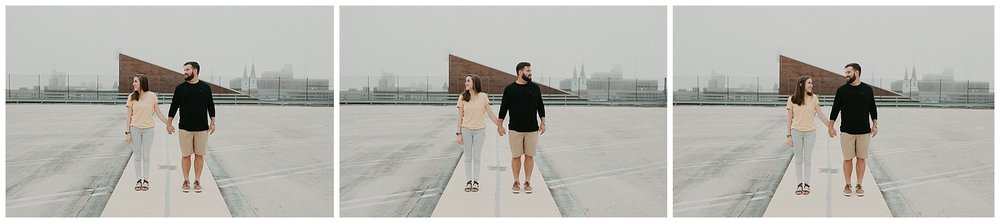 Summer sunrise Parking Garage Rooftop Engagement Session in Lancaster Pennsylvania_0139.jpg