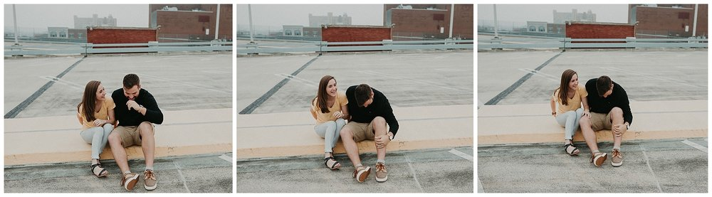 Summer sunrise Parking Garage Rooftop Engagement Session in Lancaster Pennsylvania_0148.jpg