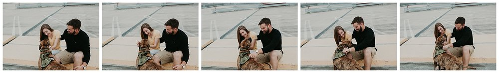 Summer sunrise Parking Garage Rooftop Engagement Session in Lancaster Pennsylvania_0161.jpg