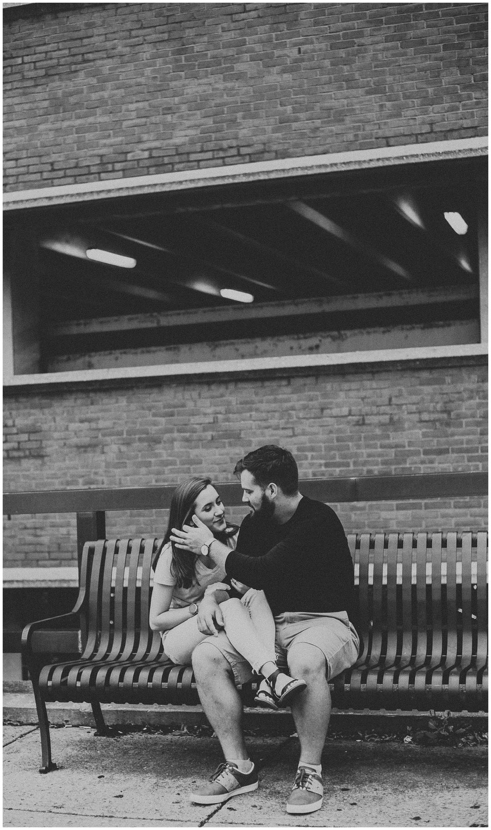 Summer sunrise Parking Garage Rooftop Engagement Session in Lancaster Pennsylvania_0169.jpg