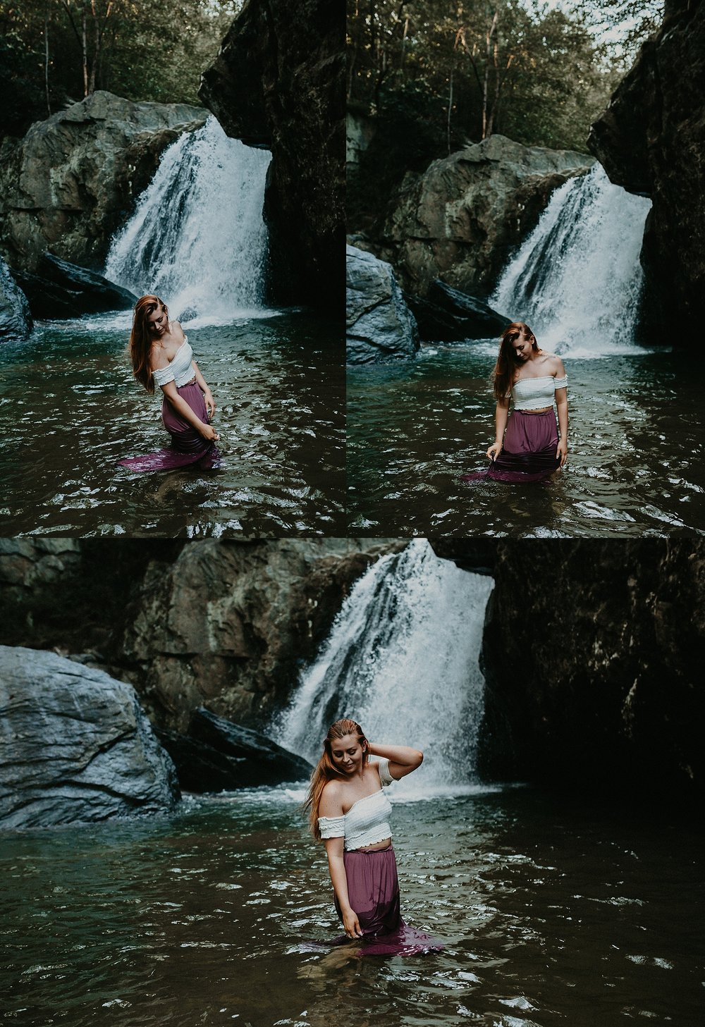 Summer Evening Boho Couples Session at Kilgore Falls Waterfalls in Pylesville Maryland_0037.jpg