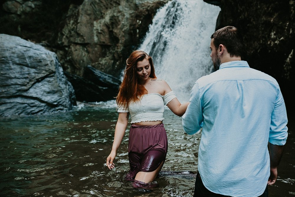 Summer Evening Boho Couples Session at Kilgore Falls Waterfalls in Pylesville Maryland_0044.jpg