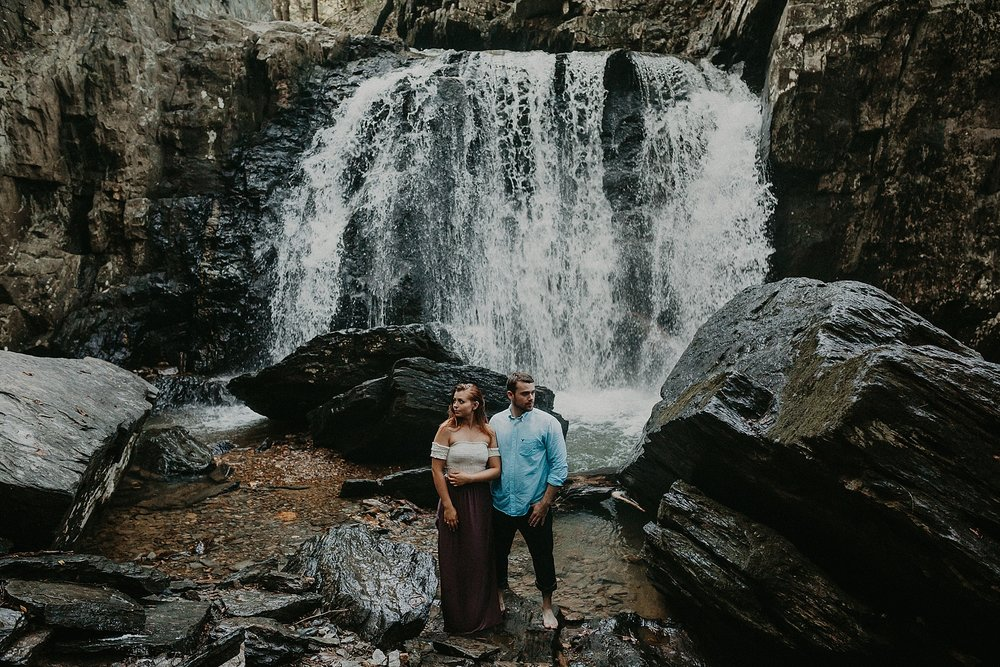 Summer Evening Boho Couples Session at Kilgore Falls Waterfalls in Pylesville Maryland_0060.jpg