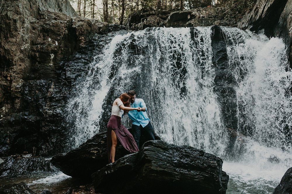 Summer Evening Boho Couples Session at Kilgore Falls Waterfalls in Pylesville Maryland_0063.jpg