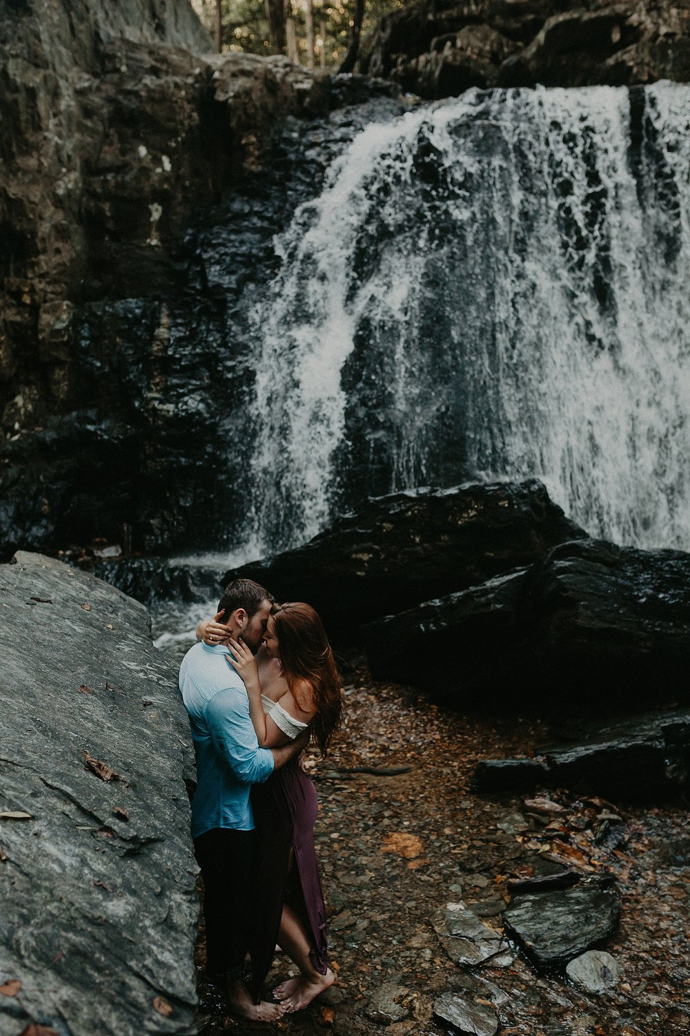 Summer Evening Boho Couples Session at Kilgore Falls Waterfalls in Pylesville Maryland_0062.jpg