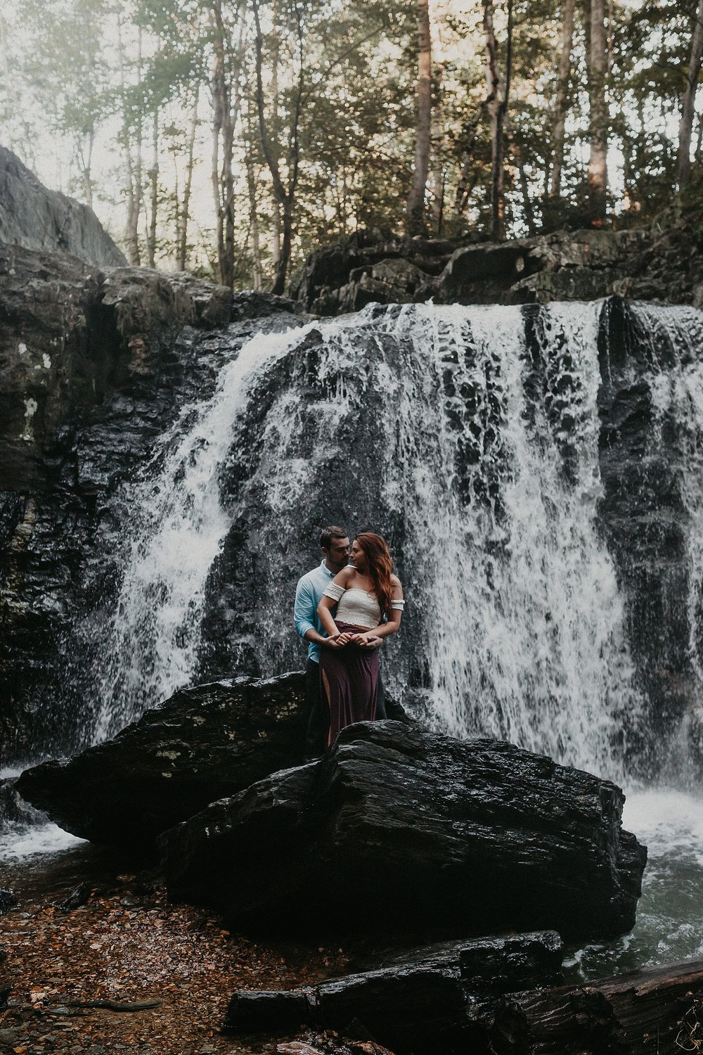 Summer Evening Boho Couples Session at Kilgore Falls Waterfalls in Pylesville Maryland_0064.jpg