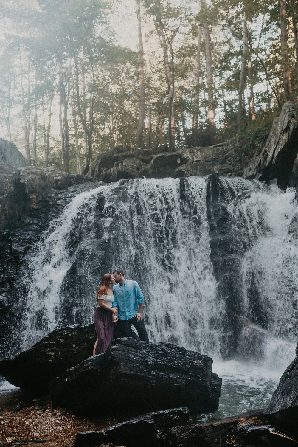 Summer Evening Boho Couples Session at Kilgore Falls Waterfalls in Pylesville Maryland_0066.jpg