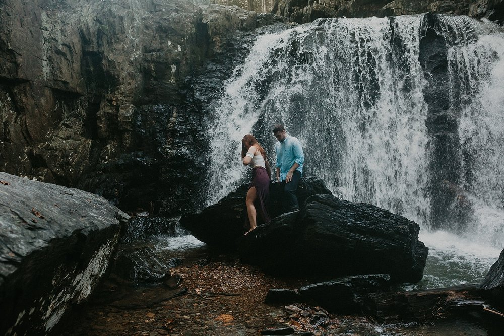 Summer Evening Boho Couples Session at Kilgore Falls Waterfalls in Pylesville Maryland_0067.jpg