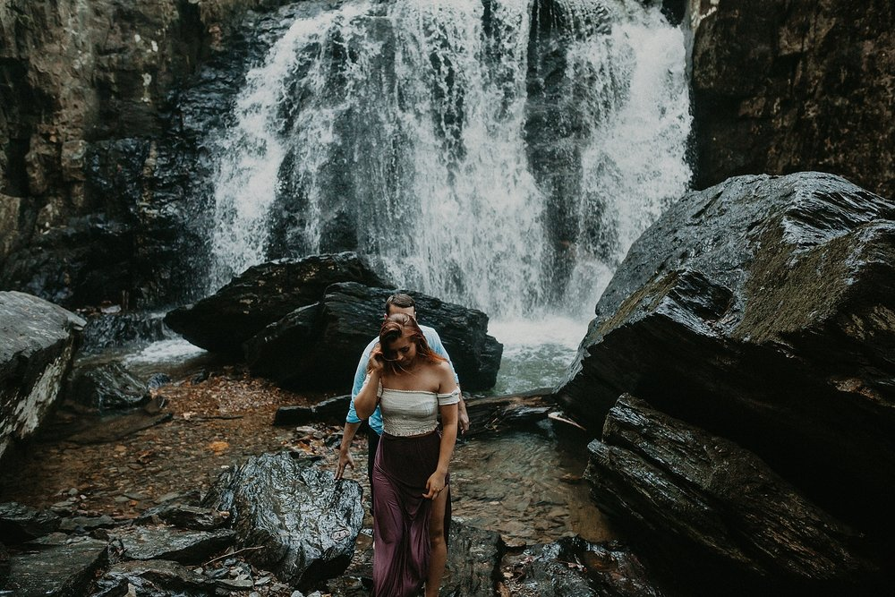 Summer Evening Boho Couples Session at Kilgore Falls Waterfalls in Pylesville Maryland_0070.jpg
