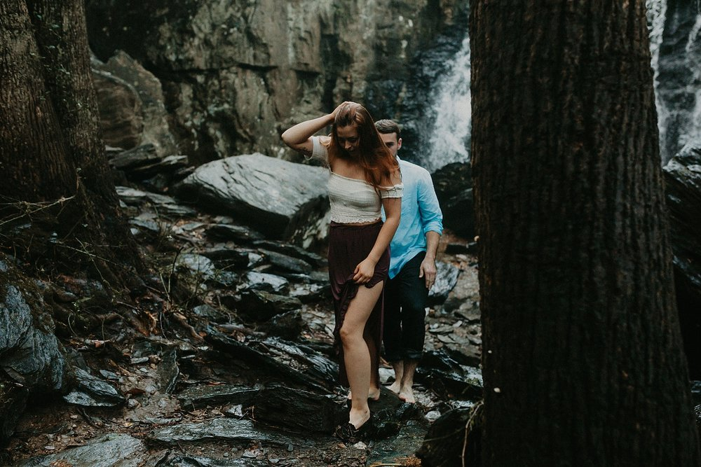 Summer Evening Boho Couples Session at Kilgore Falls Waterfalls in Pylesville Maryland_0072.jpg