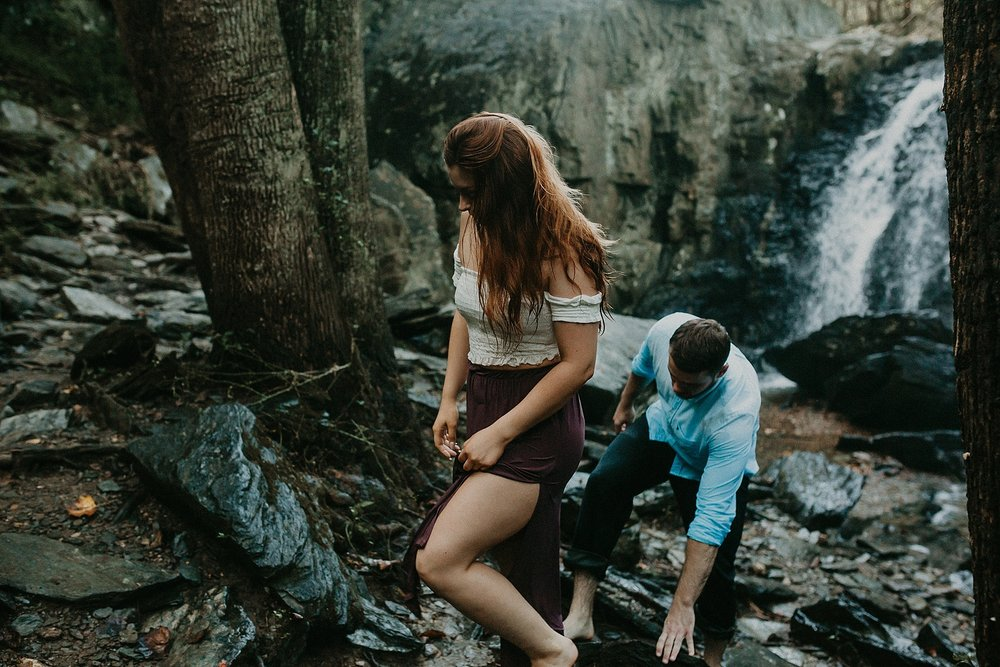 Summer Evening Boho Couples Session at Kilgore Falls Waterfalls in Pylesville Maryland_0073.jpg