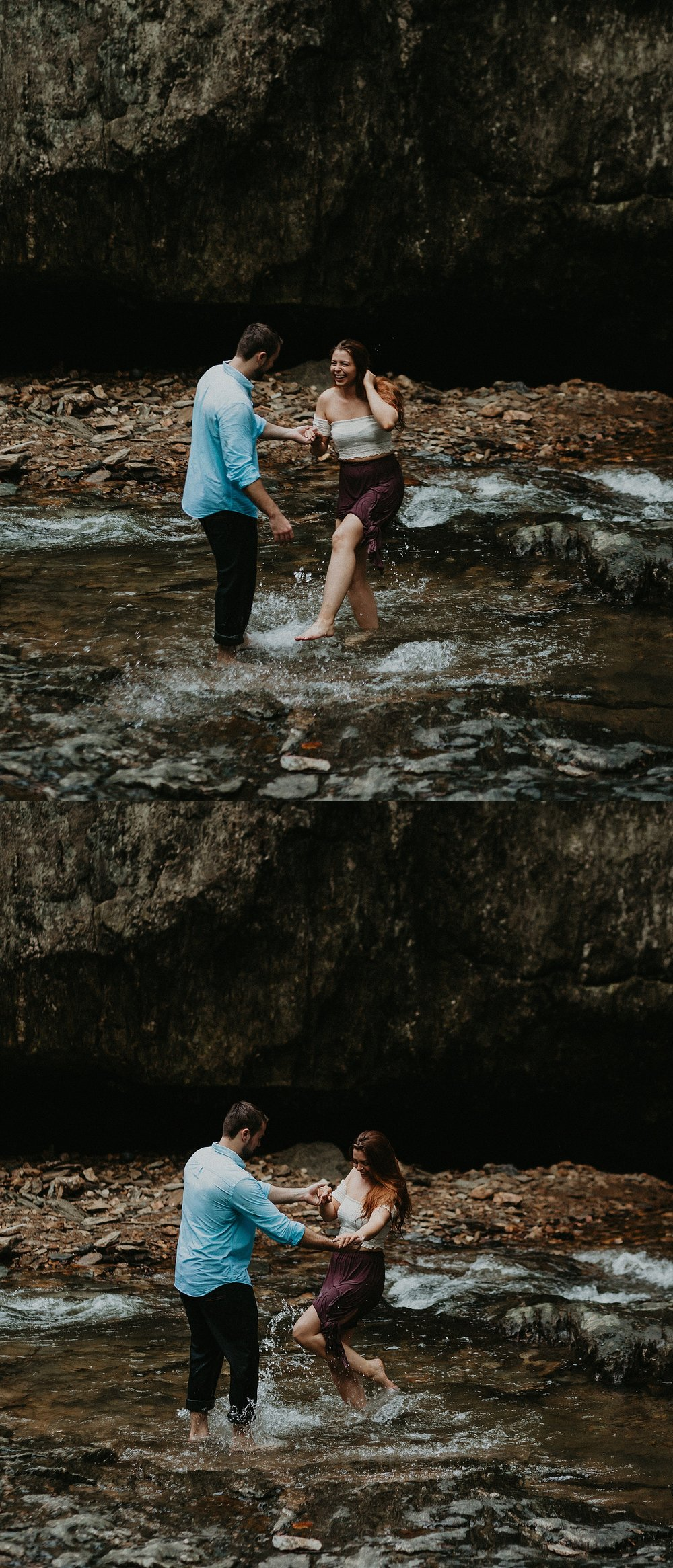 Summer Evening Boho Couples Session at Kilgore Falls Waterfalls in Pylesville Maryland_0078.jpg
