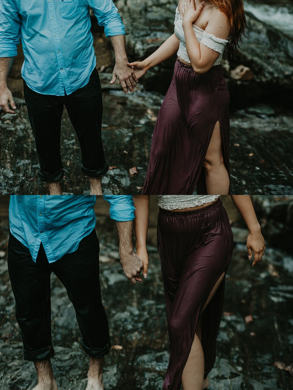 Summer Evening Boho Couples Session at Kilgore Falls Waterfalls in Pylesville Maryland_0086.jpg