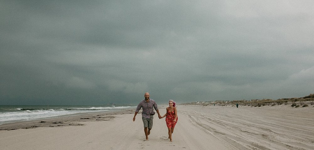 Summer stormy engagement session at Stone Harbor New Jersey