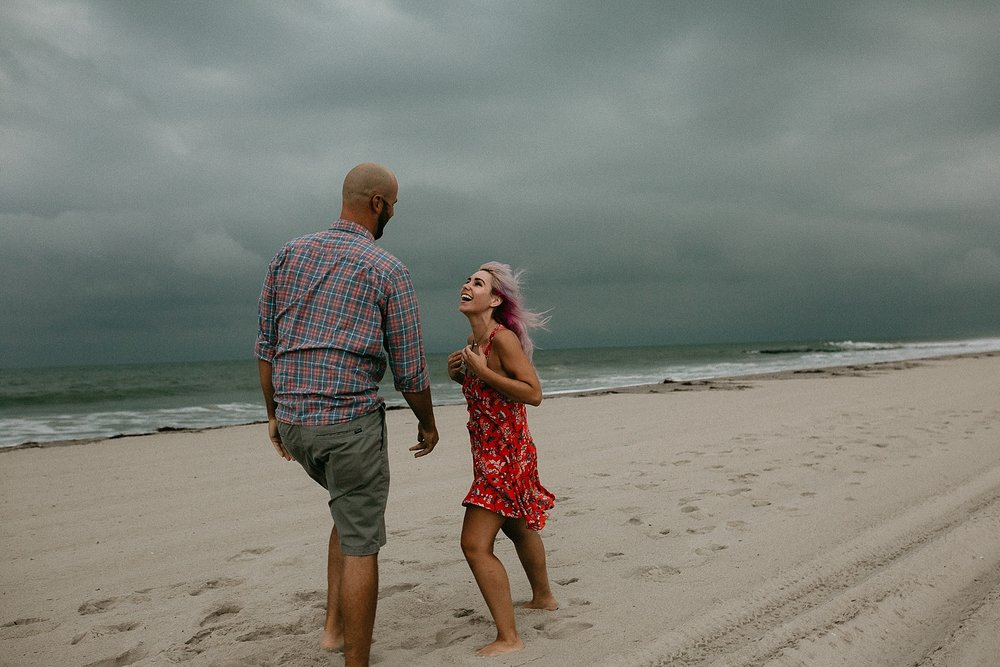 Engagement session on Stone Harbor beach in Stone Harbor New Jersey