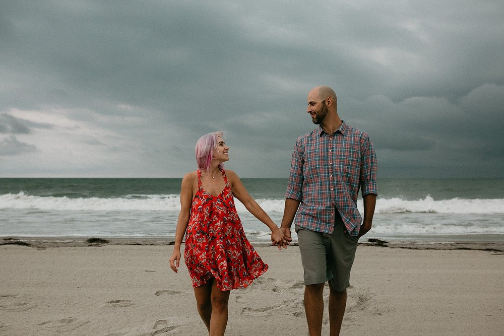 Engagement photos on Stone Harbor beach