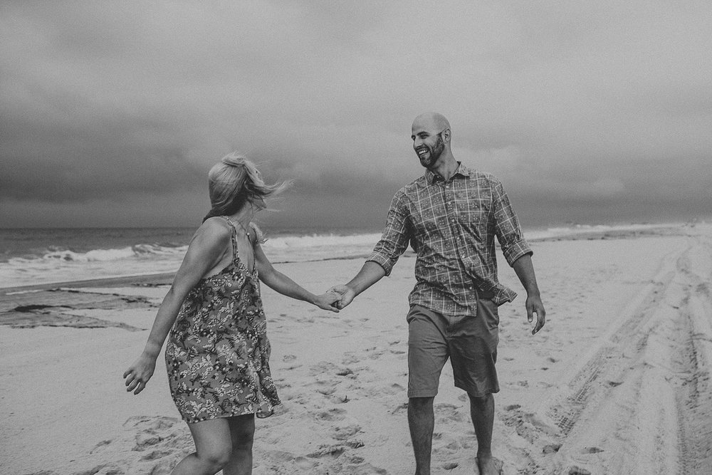 Engagement photos on Stone Harbor beach in New Jersey