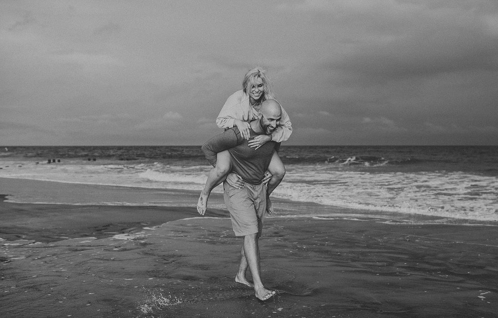 Stone Harbor beach engagement photos