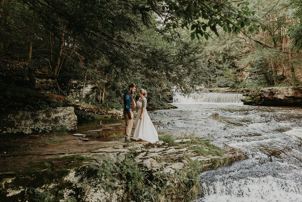 Mid Summer Adventerous Wedding with Waterfalls and Swimming in Pocono, Pennsylvania_0245.jpg