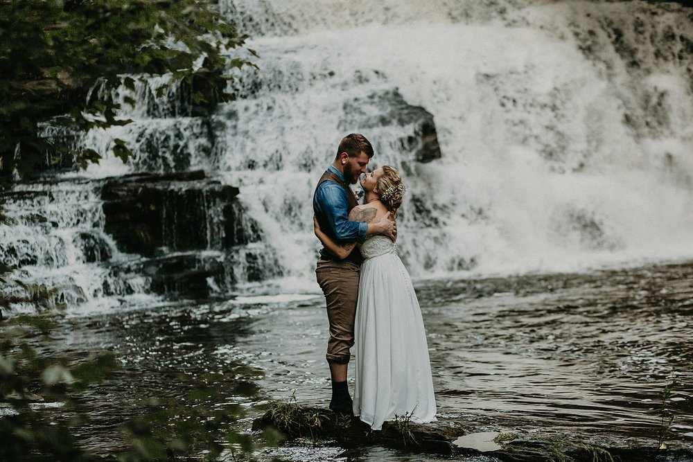 Mid Summer Adventerous Wedding with Waterfalls and Swimming in Pocono, Pennsylvania_0248.jpg