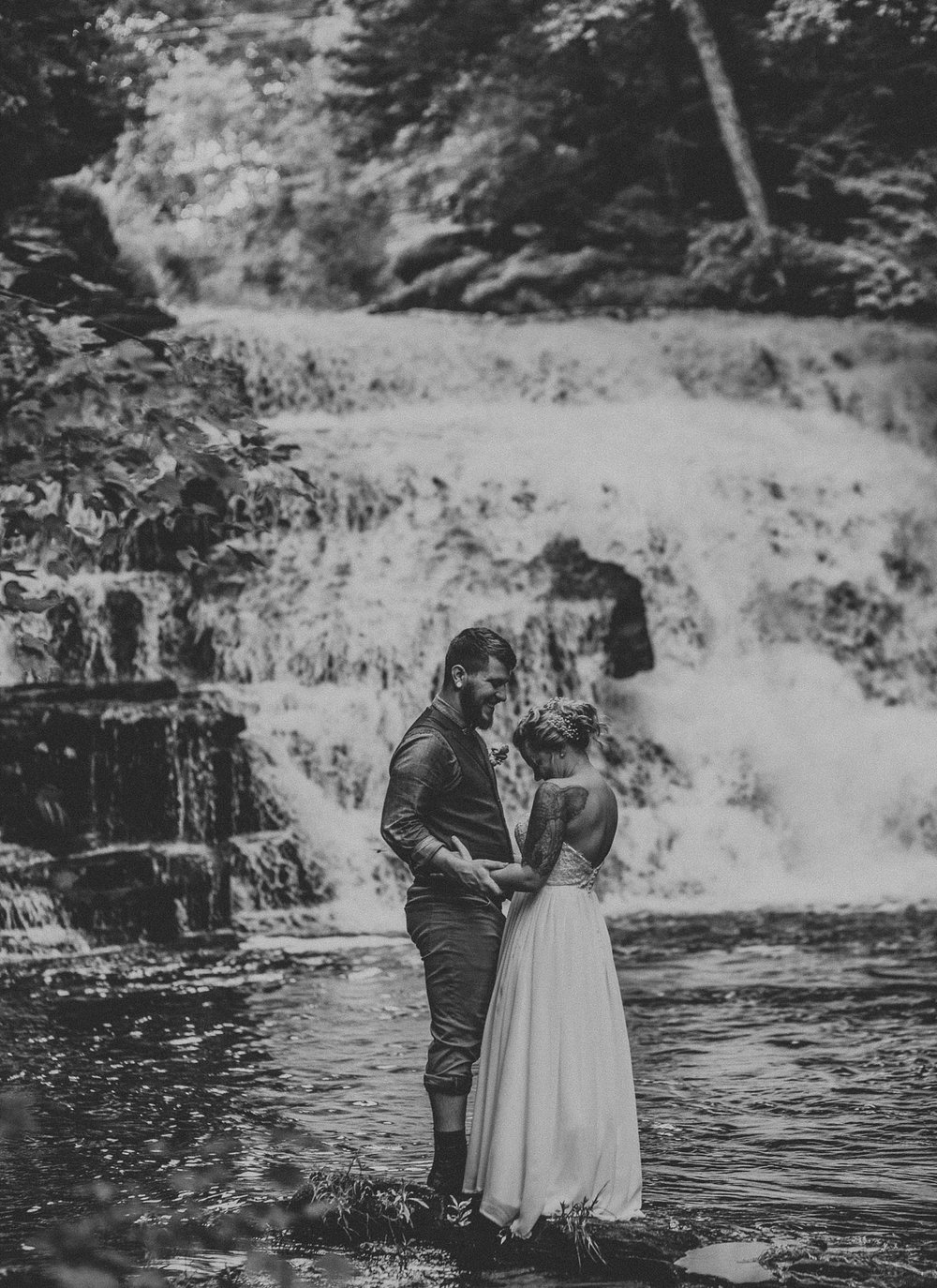 Mid Summer Adventerous Wedding with Waterfalls and Swimming in Pocono, Pennsylvania_0249.jpg