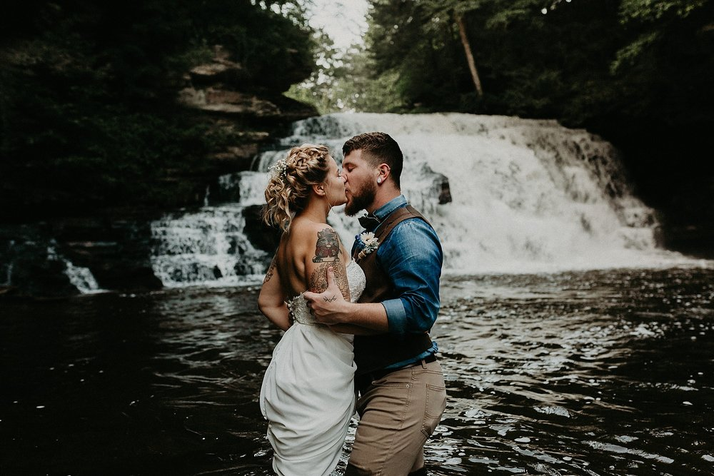 Mid Summer Adventerous Wedding with Waterfalls and Swimming in Pocono, Pennsylvania_0258.jpg