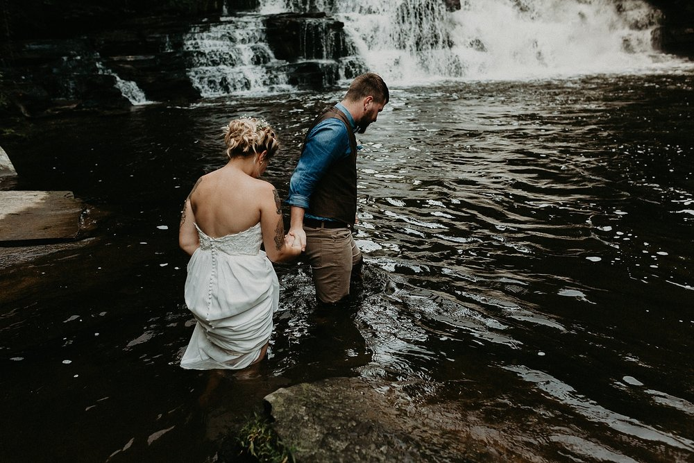 Mid Summer Adventerous Wedding with Waterfalls and Swimming in Pocono, Pennsylvania_0257.jpg