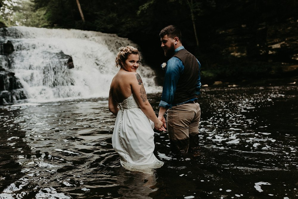 Mid Summer Adventerous Wedding with Waterfalls and Swimming in Pocono, Pennsylvania_0261.jpg