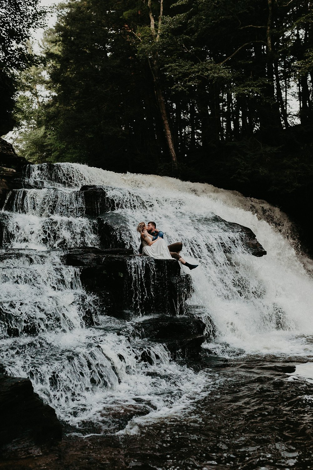 Mid Summer Adventerous Wedding with Waterfalls and Swimming in Pocono, Pennsylvania_0269.jpg