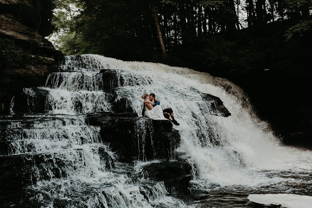 Mid Summer Adventerous Wedding with Waterfalls and Swimming in Pocono, Pennsylvania_0270.jpg