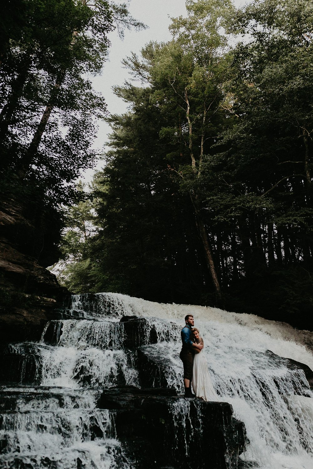 Mid Summer Adventerous Wedding with Waterfalls and Swimming in Pocono, Pennsylvania_0271.jpg
