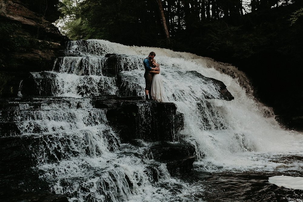 Mid Summer Adventerous Wedding with Waterfalls and Swimming in Pocono, Pennsylvania_0273.jpg