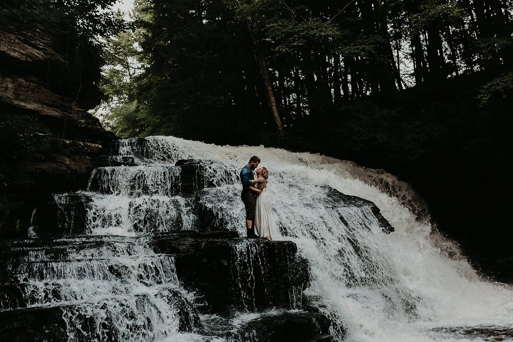Mid Summer Adventerous Wedding with Waterfalls and Swimming in Pocono, Pennsylvania_0274.jpg