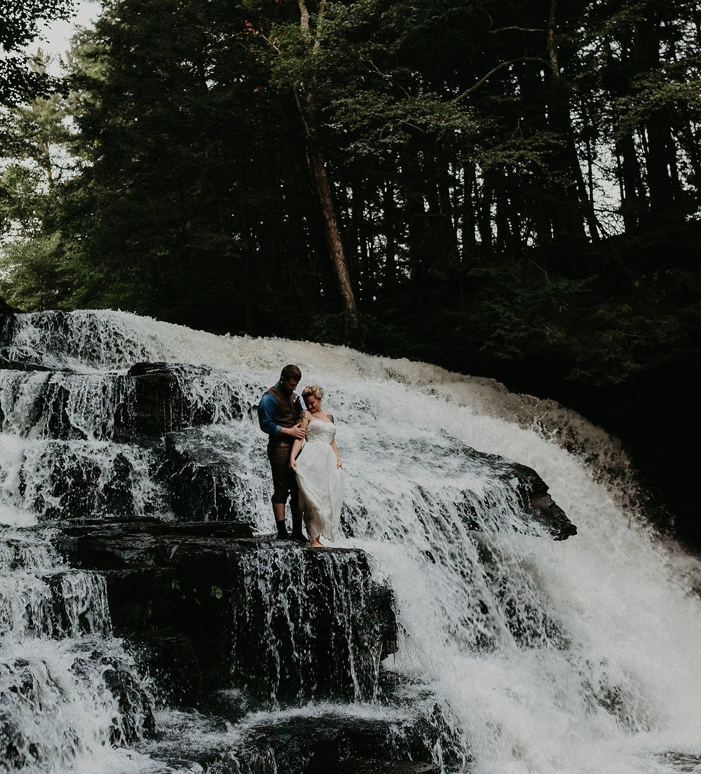 Mid Summer Adventerous Wedding with Waterfalls and Swimming in Pocono, Pennsylvania_0276.jpg