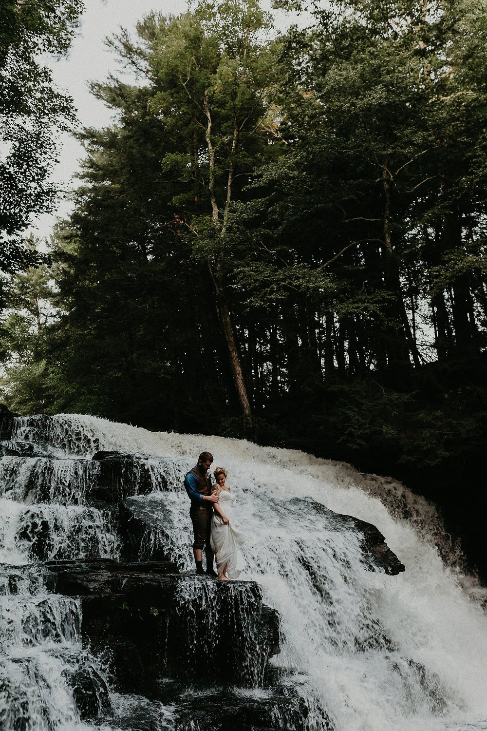 Mid Summer Adventerous Wedding with Waterfalls and Swimming in Pocono, Pennsylvania_0275.jpg