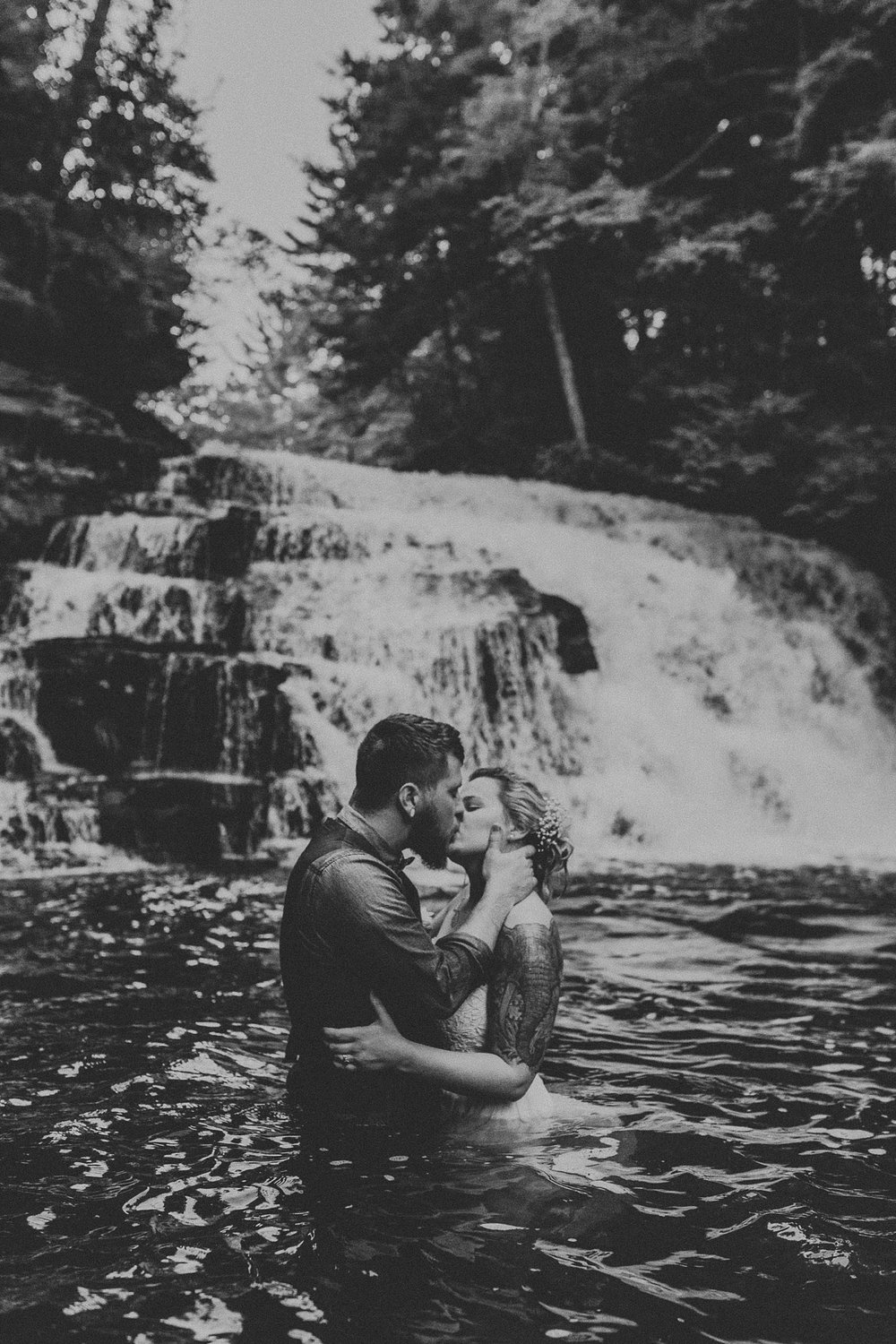 Mid Summer Adventerous Wedding with Waterfalls and Swimming in Pocono, Pennsylvania_0281.jpg