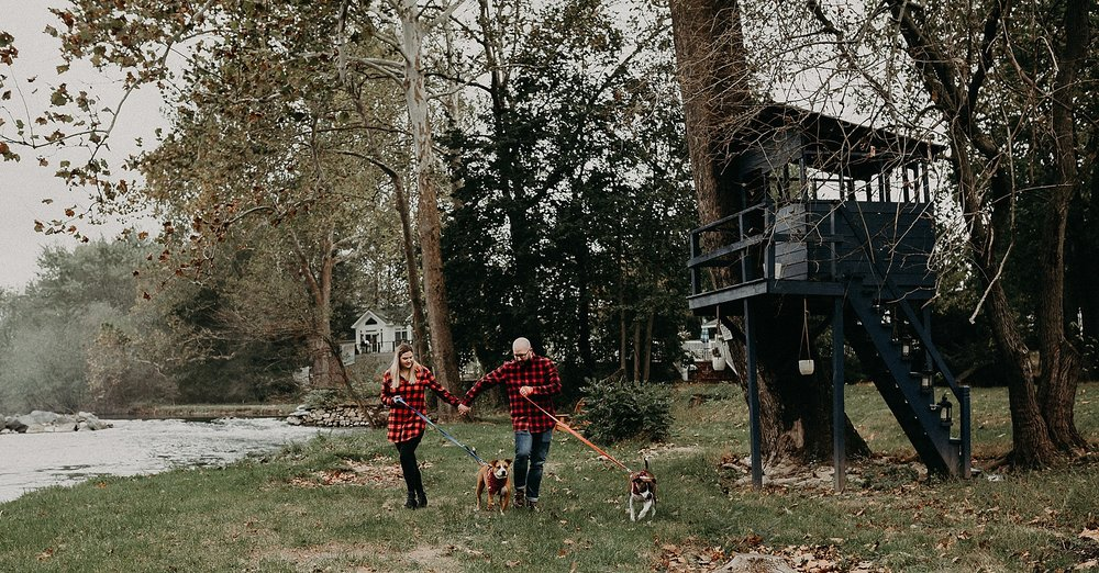 family walk during photo session at 1181 creekside manor
