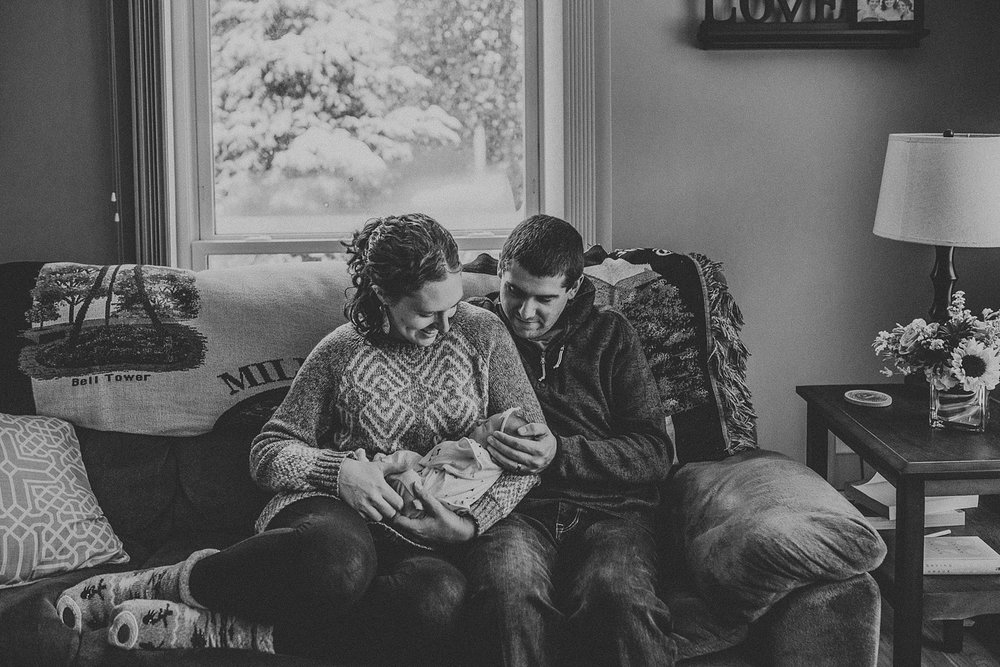 In Home Newborn Lifestyle Photos in Lancaster, PA