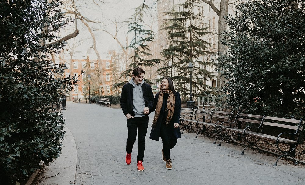 Engagement session in Washington Square Park in New York City, New York