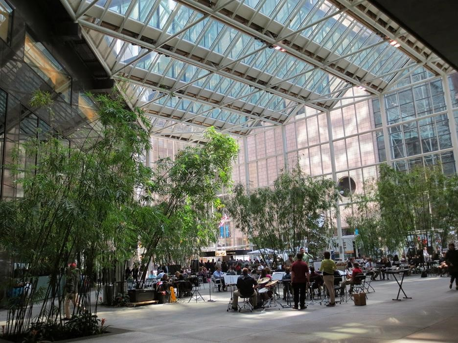 A really cool privately-owned public space in New York.
