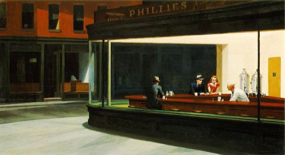 Nighthawks, by Edward Hopper