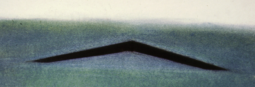 This is artist/architecture student Maya Lin's rendering for her winning proposal of the Vietnam Veterans Memorial wall. It is now housed at the Library of Congress.
